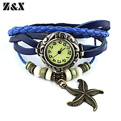 Women's Simplicity Starfish Quartz Analog  Leather Wrist Watch(Assorted Colors) Cool Watches Unique Watches
