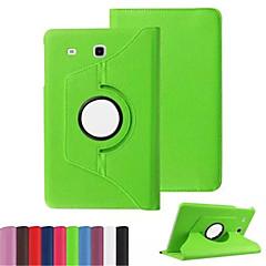 Samsung galaxy tab e 360 döner litchi cilt deri çanta kapağı 9.6 T560 / t561 tablet kapak durumda (aorted renk)