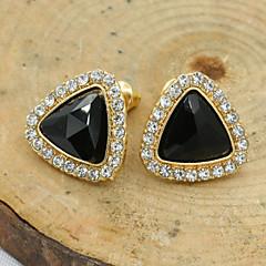 Damskie Kolczyki na sztyft Kryształ Modny Europejski biżuteria kostiumowa Kryształ górski Pozłacane 18K złoty Imitacja diamentu Kryształ