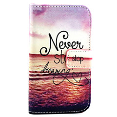 Red Sea Pattern PU Leather Material Card Full Body Case for Samsung Galaxy J1 / Galaxy Grand 2 G7106