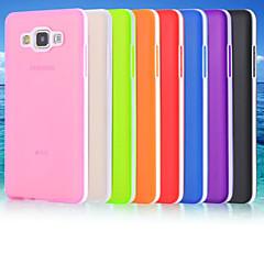 Na Samsung Galaxy Etui Szron / Półprzezroczyste Kılıf Etui na tył Kılıf Jeden kolor TPU Samsung A7 / A5