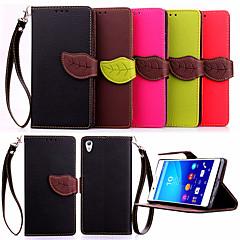 høj kvalitet tegnebog kortholderen pu læder flip sag Cover til Sony Xperia z4 / z3 / z3 mini / e3 / e4 (assorterede farver)