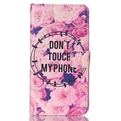 For Samsung Galaxy Note Pung / Kortholder / Med stativ / Flip Etui Heldækkende Etui Ord / sætning Kunstlæder Samsung Note 4 / Note 3