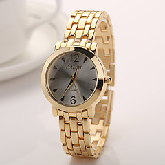 Woman Watches Geneva Women 2015 New Alloy Steel Quartz Watches Men Gold Watch Brand Analog Watches Top Quality