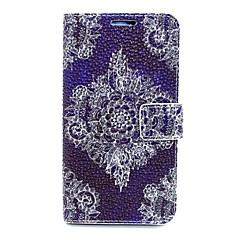 blonder blomst læderetui med stativ til Samsung Galaxy s6 / S5 / s4 / s3 / s3 mini / s4 mini / s5 mini / s6 kant