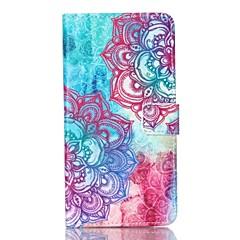Voor Samsung Galaxy Note Portemonnee / Kaarthouder / met standaard / Flip hoesje Volledige behuizing hoesje Mandala PU-leer SamsungNote 5