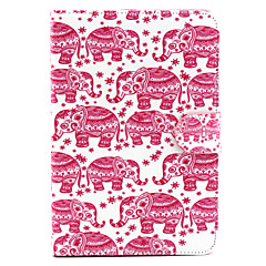 Cartoon Elephant  Pattern PU Leather Full Body Case with Stand for iPad mini 1/2/3