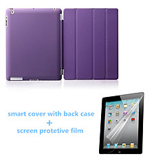 High Quality Auto Sleep PU Leather Stand Case with Back Cover and Screen Protector for iPad Mini 123 (Assorted Colors)