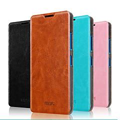 Για Θήκη Nokia με βάση στήριξης / Ανοιγόμενη tok Πλήρης κάλυψη tok Μονόχρωμη Σκληρή Γνήσιο δέρμα NokiaNokia Lumia 640 / Nokia Lumia 640