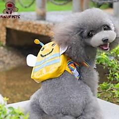 zábavné pets® roztomilé žluté včelí tvar batohu pro domácí zvířata psy (rozmanité velikosti)