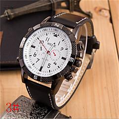 Men's Leather Band Quartz Anolog Sports Wrist Watch(Assorted Colors)