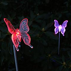 συσκευασία των 2 ηλιακών αλλάζει χρώμα πεταλούδα φως διακυβεύονται κήπο