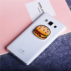 motif hamburger ultra mince TPU étui transparent couverture souple pour Samsung Galaxy A3 / A5 / A7 / A8