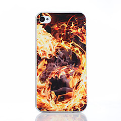 Fire Pattern TPU Material Phone Case for iPhone 4/4S