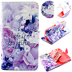 Purple Flower Pattern with Card Bag Full Body Case for Samsung Galaxy S3 Mini/ S4 / S5 Mini
