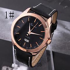 남성 패션 학년 간단한 비즈니스 중립 석영 벨트 시계