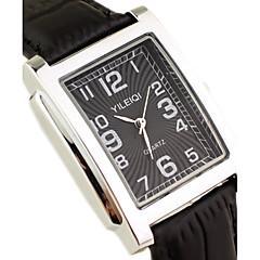 Masculino Relógio de Pulso Quartzo Japonês Couro Banda Preta / Marrom marca-