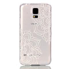 teste padrão de flor oco ultrafinos caso capa dura de volta para samsung galaxy S6 S6 borda S5 s5mini S4 mini-s3mini