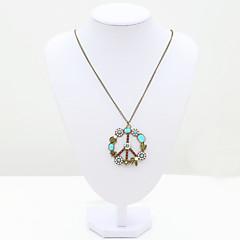 Dames Hangertjes ketting Kristal Strass imitatie Diamond 18K goud Modieus Sieraden