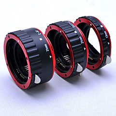 Red Metal Auto Focus AF Macro Extension Tube/Ring for CANON 5D 5D2 EOS EF-S Lens