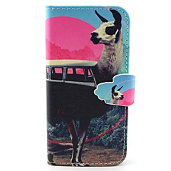 Sleigh Pattern PU Leather Case with Card Slot and Stand for Samsung Galaxy S4 mini/S3mini/S5mini/S3/S4/S5/S6/S6edge