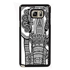 Varten Samsung Galaxy Note kotelot kuoret Kuvio Takakuori Etui Elefantti PC varten Samsung Note 5 Edge Note 5 Note 4 Note 3