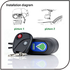 XIE SHENG Cycling/Mountain Bike/Road Bike/MTB/Fixed Gear Bike/Recreational Cycling Bike Locks Alarm ABS wireless lock