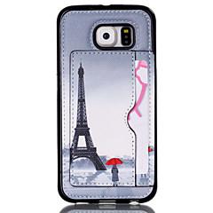 kärlek torn mönster telefonens skal korthållaren för Samsung Galaxy S3 / S4 / S5 / S6 / S6 kant / s4 mini / s5 mini