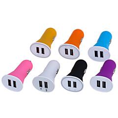 candy farve 2.1a dobbelt port usb universal hurtig bil oplader adapter (12-24V) (assorterede farver)