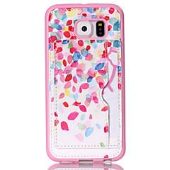 Petal  Pattern Phone Shell  Card Holder For Samsung Galaxy S3 /S4/S5/S6/ S6 edge/S4 Mini /S5 Mini