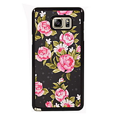 Para Samsung Galaxy Note Estampada Capinha Capa Traseira Capinha Flor PC Samsung Note 5 Edge / Note 5 / Note 4 / Note 3