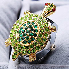 Women's New Exquisite Fashion Round Turtle Shape of Diamond Dial Steel Strap Quartz Ring Watch (Random Color) Cool Watches Unique Watches