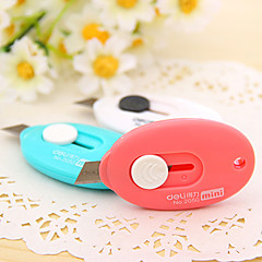 Mini Pocket Utility Knife Blade Paper Cutting Tools Stationery (Random Color)