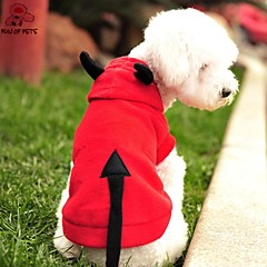 Γάτες Σκυλιά Στολές Φούτερ με Κουκούλα Κόκκινο Ρούχα για σκύλους Χειμώνας Άνοιξη/Χειμώνας Vampires Cute Στολές Ηρώων Halloween