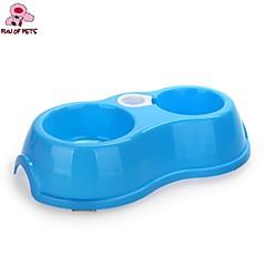 Tigelas e Bebedouros Plástico Prova-de-Água / Portátil Azul / Rosa