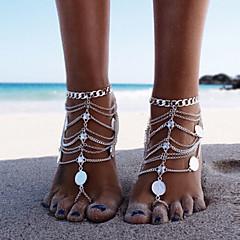 Kadın's Ayak bileziği/Bilezikler alaşım Punk Tarzı Çoklu Katman Eski Tip Bikini kostüm takısı Mücevher Mücevher Uyumluluk Parti Kumsal