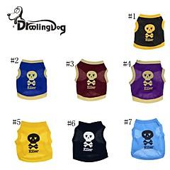 Rojo/Negro/Azul/Amarillo/Morado Algodón - Camiseta - Perros/Gatos -