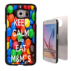 mantenha a calma e comer m&alumínio design de caso de alta qualidade da m para Samsung Galaxy S6 borda g925f