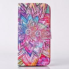 frisk strålende maleri PU lær full body sak med stativ og kortspor for Samsung Galaxy S3 S4 S5 S6 s6 kanten