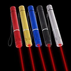 lt - 5mW 650nm viditelný nastavitelný paprsek červený laser pero svítilna - černá červená modrá tříska zlatý