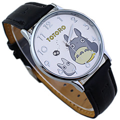 kid's totoro wijzerplaat pu band leuke cartoon polshorloge
