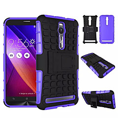 "5.5"" For Asus Zenfone 2 Kickstand case, Hybrid Heavy duty Rugged Rubber+PC Anti-slip Armor case(Assorted Colors)"
