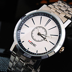 Men's Simple Business Round Dial Stainless Steel Strap Fashion Life Waterproof Quartz Watch