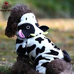 Gatos / Perros Saco y Capucha / Pantalones Negro / Blanco Ropa para Perro Invierno Animal / Caricaturas Boda / Cosplay