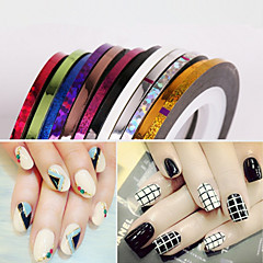 12PCS 2MM Broaden Mixs Color Striping Tape Line Nail Stripe Tape Nail Art Decoration Sticker