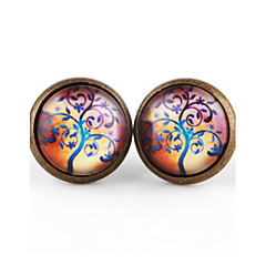 Vilam® Life Tree Peace Tree Windy Branch Earring For Women Glass Cabachon Bezel Brincos Perola Art Photo Earrings