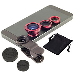 New Universal 3 in1 Clip-on Fisheye Wide Angle Macro Mobile Phone Camera Lens Kit For IPhone For Samsung
