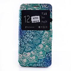 For Samsung Galaxy Note Kortholder Med stativ Med vindue Flip Mønster Etui Heldækkende Etui Mandala-mønster Blødt Kunstlæder for Samsung