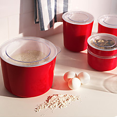 1.5l ljust frasco de color rojo con la tapa cubierta transparente