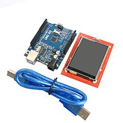 улучшенная версия уно модуль R3 ATmega328P доска + 2,4 дюймовый дисплей TFT LCD сенсорный экран для Arduino Модуль